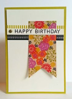 A Muse Studio Mini Blooms Birthday Card for Sweet Escape Card Making Outing at Berry Yo in Arlington Heights with Amuse Consultant Marisa Alvarez - http://www.kitchentablestamper.com