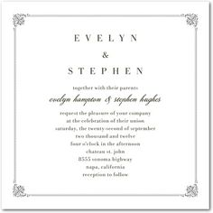 Regal Frame - Signature Letterpress Wedding Invitations with Square Corners, Our Signature Letterpress Collection is the perfect blend of traditional and modern. Business Invitation, Letterpress Wedding Invitations, Wedding Invitation Design, Summer Wedding, Wedding Day, Wedding Things, Wedding Paper Divas, Anniversary Parties, 40th Anniversary