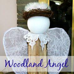 How to Make a Wood Log Angel | Crafts a la mode