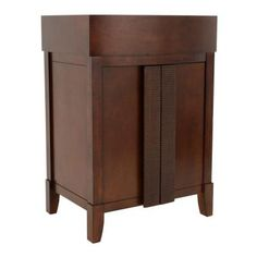 American Standard Tropic 24 in. W x 19.5 in. D x 34.5 in. H Vanity Cabinet Only in Nutmeg-9212.024.336 at The Home Depot
