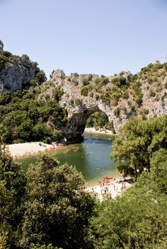 Ardeche, France - Vallon Pont D'Arc. Childhood memories of canoes, picnics, hikes and living a simpler life
