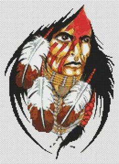 Free Native American Cross Stitch | Native American Cross Stitch - White Willow Stitching Cross Stitch ...