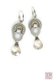Chiara delicate crystal drop bridal earrings by Dori Csengeri Small Earrings, White Earrings, Drop Earrings, Crystal Drop, Bridal Earrings, Dory, Handcrafted Jewelry, Jewelry Stores, Belly Button Rings