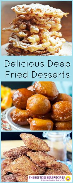 So many deep fried desserts, so little time! From funnel cakes to churros to pie bites, check out these fried treats!