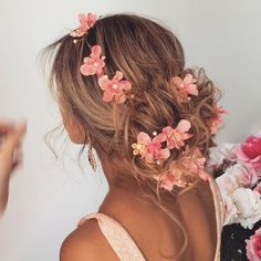 Low messy bun  perfect for bridesmaids