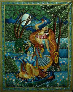 Radha Krishna Pichwai Paintings, Mughal Paintings, Krishna Painting, Indian Art Paintings, Madhubani Painting, Radha Krishna Wallpaper, Radha Krishna Images, Radha Krishna Photo, Krishna Art