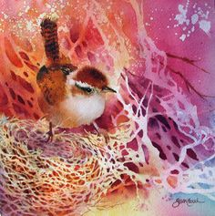 Susan Crouch Excellent use of negative space. The red brown of the bird is…