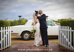 #Bride_and_groom by #Wedding_car  Photography by #PhotoAlbert #Wedding_photographer_in_Surrey Hampshire  London.
