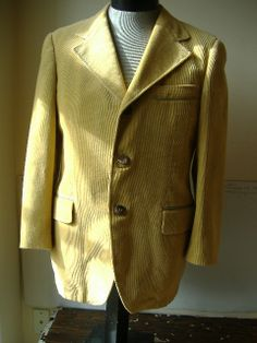 Cortefiel Mens Jacket Coat Mustard Corduroy and by Binzorama, $25.33