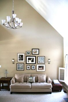 smaller gallery shape over sofa