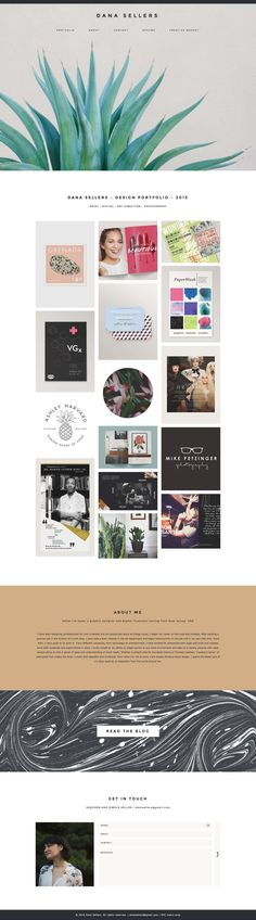Dana Sellers Creative Portfolio WordPress Theme - Station Seven
