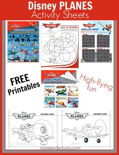 free printable disney planes activity sheets and coloring pages via momendeavorscom - Disney Cars Activities