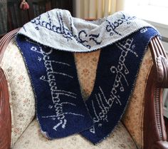 Lord of the Rings One Ring Scarf Pattern- I will learn how to knit to be able to make this!!