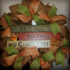 Faith Family Friends Burlap wreath