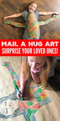 Mail a Hug Project for Kids! DIY Kids Activity to Show Your Love to Family and Friends! This is the perfect Stay-at-Home craft idea to send to your loved ones! DIY Projects for Kids! Fun Crafts For Kids, Christmas Crafts For Kids, Craft Activities For Kids, Diy For Kids, Indoor Activities, Summer Activities, Troll Party, Diy Projects For Kids, Business For Kids