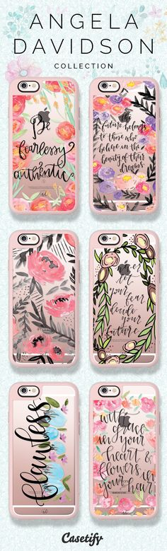 Flower Power! Shop these beautiful cases on our site now! https://www.casetify.com/angeladavidsondesign/collection | @casetify