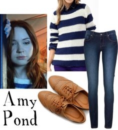 """""""Amy Pond"""" by companionclothes ❤ liked on Polyvore"""