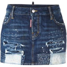 Dsquared2 distressed stitching mini skirt (43.225 RUB) ❤ liked on Polyvore featuring skirts, mini skirts, blue, dsquared2, paint splatter skirt, short blue skirt, short mini skirts and blue mini skirt