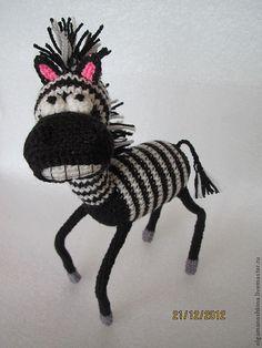 Купить Зебра - Вязание крючком, вязаная игрушка, подарок на день рождения, подарок на новый год, подарок