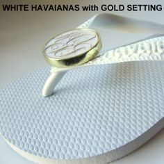 Must have for summer! Havaianas monogrammed by swagsatmp.com <3