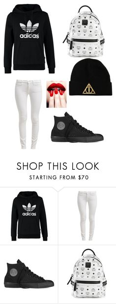 """""""Untitled #7"""" by littleaybar1520 ❤ liked on Polyvore featuring adidas Originals, 7 For All Mankind, Converse and MCM"""