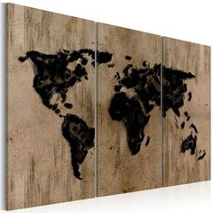 Quadro - Mysterious map of the World