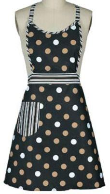 Black Dot Girlie vintage apron
