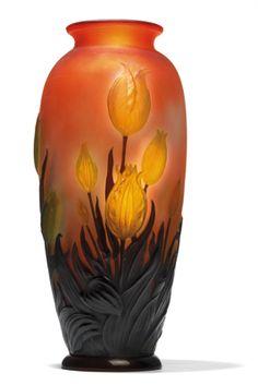 Souffl-Vase mit Tulpen, Galle, Nancy um 1925 - Dorotheum - EUR 16.000