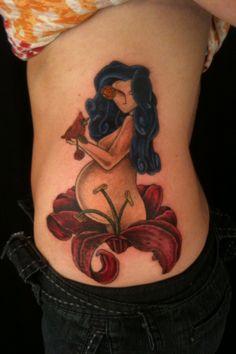 pregnant woman tattoo. Tattoo & Co. Love seeing my tat pop up :)