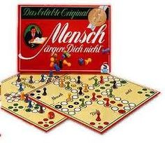 `Mensch argere dich nicht´ - a traditional German game, easy, great fun for kids