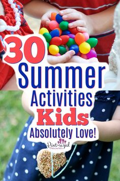 Make summer even MORE fun with these 30 Summer Activities for KIDS! Your kids will love how creative and simple these are! Enjoy making summer memories with your kids! Let us know which summer activity is your favorite! Summer Activities For Kids, Toddler Activities, Learning Activities, Games For Kids, Crafts For Kids, Indoor Activities, Family Activities, Outside Activities For Kids, Indoor Games