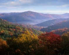 A view amid the beautiful Blue Ridge Mountains.