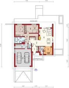 Projekt domu Astrid II G2 (mała) energo 99,44 m² - koszt budowy - EXTRADOM Bungalow House Plans, Design Case, Malaga, Pergola, Floor Plans, How To Plan, Houses, Magnolia, Home Plans