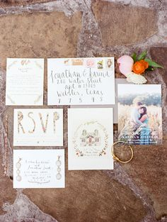 romantic and fun wedding invitation stationery - photo by  Dana Fernandez Photography