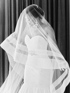 gorgeous double bordered veil | Amy Arrington