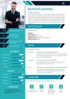etkili-cv-teknikleri-ornegi Creative Cv Template, Job Resume Template, Resume Design Template, Creative Resume, Graphic Design Resume, Letterhead Design, Best Resume Format, Cv Format, Webdesign Portfolio