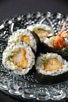 ピリッと大人の海老フライ巻き寿司