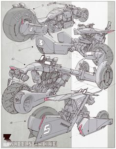 Design - Vehicle Design 005 by alantsuei on DeviantArt Simson Motor, Design Autos, Transportation Crafts, Arte Cyberpunk, Motorbike Design, Futuristic Art, Futuristic Vehicles, Industrial Design Sketch, Robot Concept Art