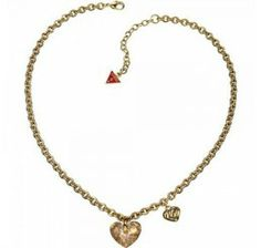 GUESS JEWELS Hartjes Ketting - Goud