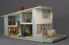 Doll's House, 1952. Designed by Gerrit Th. Rietveld (Dutch, 1888–1964). Ameide, The Netherlands. Wood, metals, textiles, other materials, 24 x 36 x 24 in. (61 x 91.4 x 61 cm). Brooklyn Museum; Gift of Marcus S. Friedlander, by exchange, 2008.74