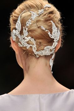 Melissa Cauchi Hairdressing Bridal Hair inspiration  up style and  Alexander McQueen