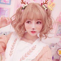 Looks Kawaii, Kawaii Cute, Kawaii Style, Kawaii Fashion, Cute Fashion, Lolita Fashion, Japonese Girl, Deer Girl, Kawaii Hairstyles