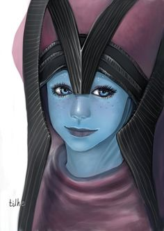 Baby Liara in Benezia's Headdress by ~tilhe on deviantART ^^^ *Ungodly squealing noises because CUTE*
