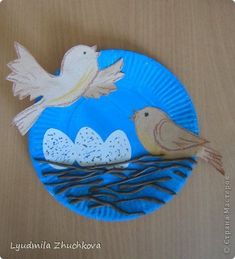 Paper Plate Art, Paper Plate Crafts, Paper Crafts For Kids, Crafts For Kids To Make, Hobbies And Crafts, Fun Crafts, Arts And Crafts, Bird Nest Craft, Bird Crafts