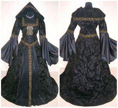 Medieval dress L-XL-2XL 16-18-20 costume gothic dress witch tudor handfasting wicca carnival celtic vampire wedding game of thrones LOTR