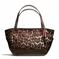 Coach Park Ocelot Carrie Tote -- look what I'm getting for Christmas!