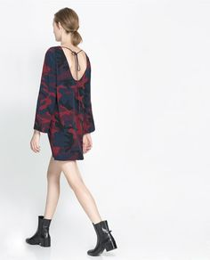 Zara Print Dress + botines