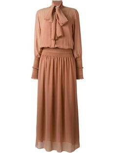See By Chloé pussy bow maxi dress
