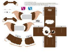Blog Paper Toy papertoys Gremlins Sercho brown template preview Papertoys Gremlins by Sercho (x 2):