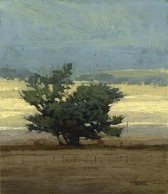 Across the Valley, 7 x 6 inches, oil on panel. Marc Bohne